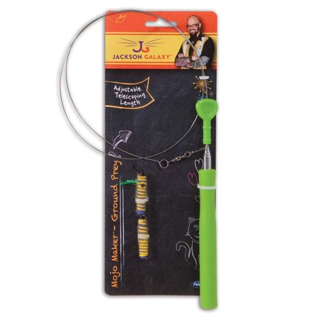 Jackson galaxy air prey telescope wand teaser cat toy for Jackson cat toys