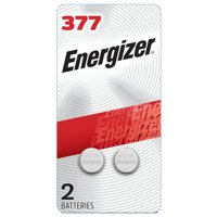 Energizer 377 Silver Oxide Button Battery (2 Pack)