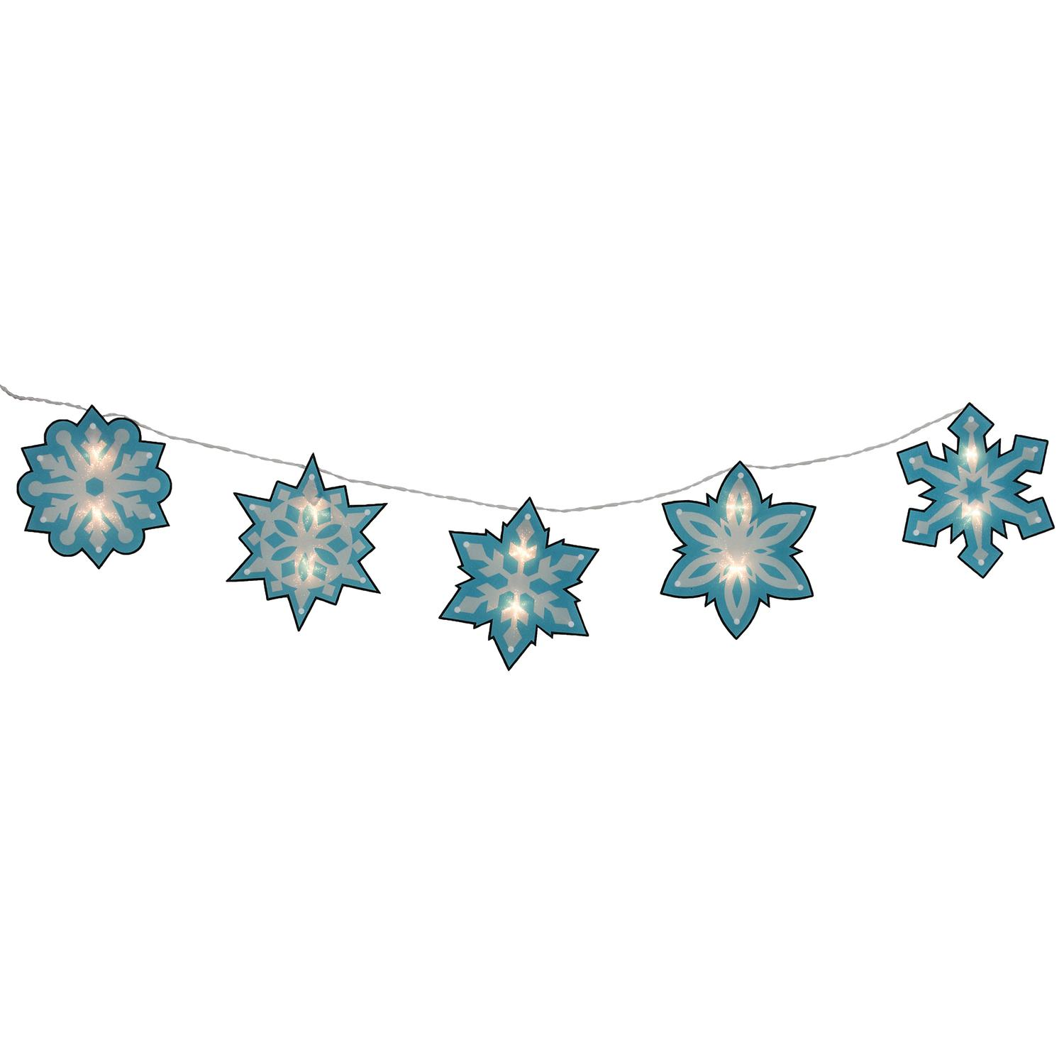 4 5 Blue And White Shimmering Snowflake Christmas Light