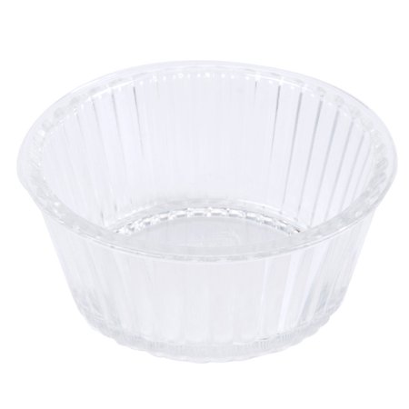 4 oz. 4.25 inch Fluted Ramekin 1.5 inch Deep Clear SAN/Case of 48