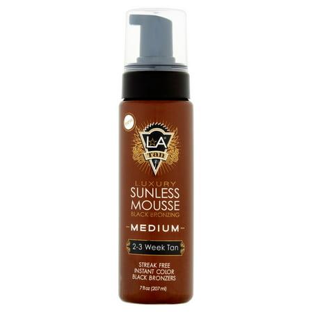 L.A Tan Medium Luxury Black Bronzing Sunless Mousse, 7 fl oz