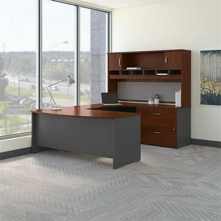 "Bush Business Series C 72"" Right U-Shaped Hutch Desk in Hansen Cherry - image 3 de 8"