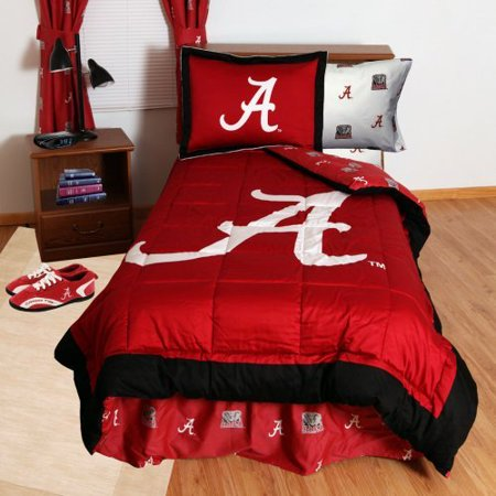 College Covers KANBBQUW Kansas Bed in a Bag Queen- With White Sheets