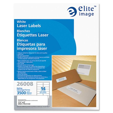 Elite Image White Mailing/Address Laser Labels