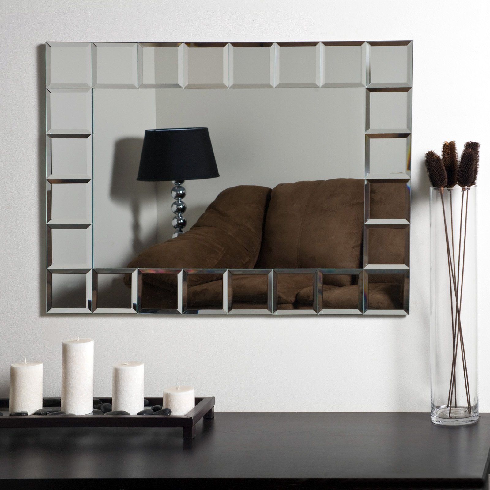 Décor Wonderland Montreal Modern Frameless Bathroom Mirror 31.5W x 23.6H in. by Decor Wonderland of US