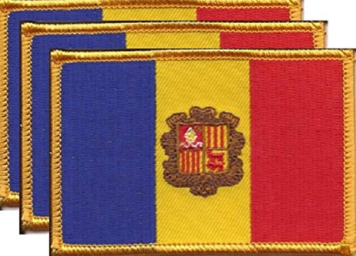 Sew On Country National Flag 7 X 4.3 cm Andorra Flag Embroidered Patch Iron On