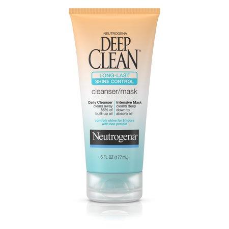 Neutrogena Deep Clean Long-Last Shine Control Facial Cleanser/Mask, 6 Fl. (Neutrogena Hydro Boost Cleanser Gelee Milk Review)