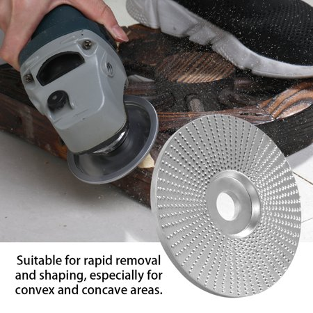 Wood Angle Grinding Wheel Sanding Carving Rotary Tool Abrasive Disc For Angle Grinder Tungsten Carbide Coating Bore Shaping 5/8inch Bore - image 7 of 7