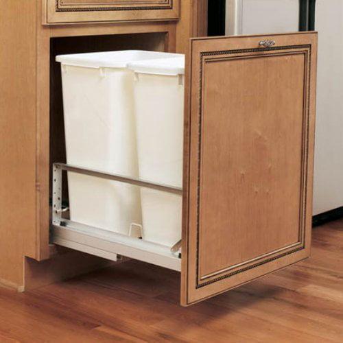 Rev-A-Shelf Double Soft Close Pull Out 50 qt. Trash Can