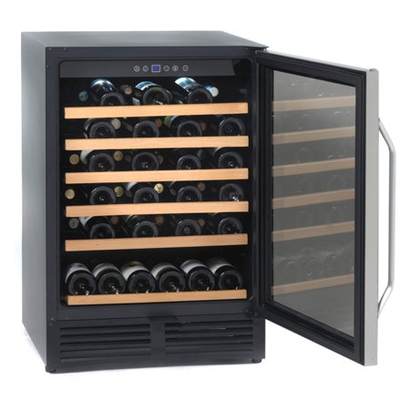 Avanti WCR506SS 50 Bottle Wine Chiller - Black with Stainless Trim Glass Door