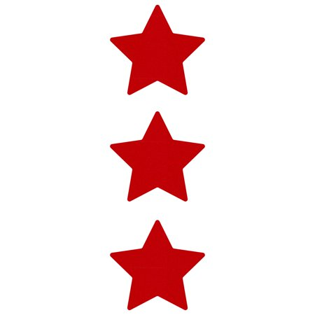 - LiteMark Reflective Hard Hat Stickers - 2 Inch Stars - Red - Pack of 3
