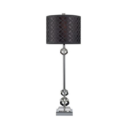 95 Wireless Crystal - Table Lamps 1 Light With Chrome and Clear Crystal and Steel Medium Base 29 inch 9.5 Watts