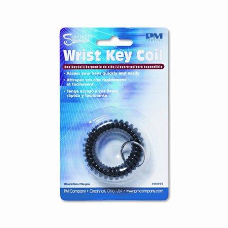 Plastic Coil Key Chain, Black