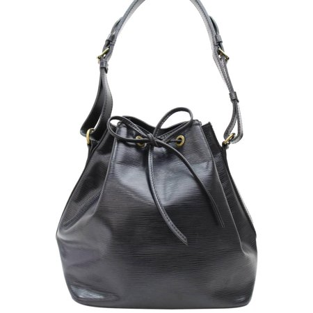 Louis Vuitton Black Epi Noir Petit Noe Drawstring Hobo 867665