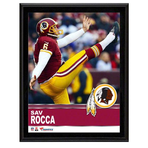 NFL - Sav Rocca Washington Redskins Sublimated 10x13 Plaque