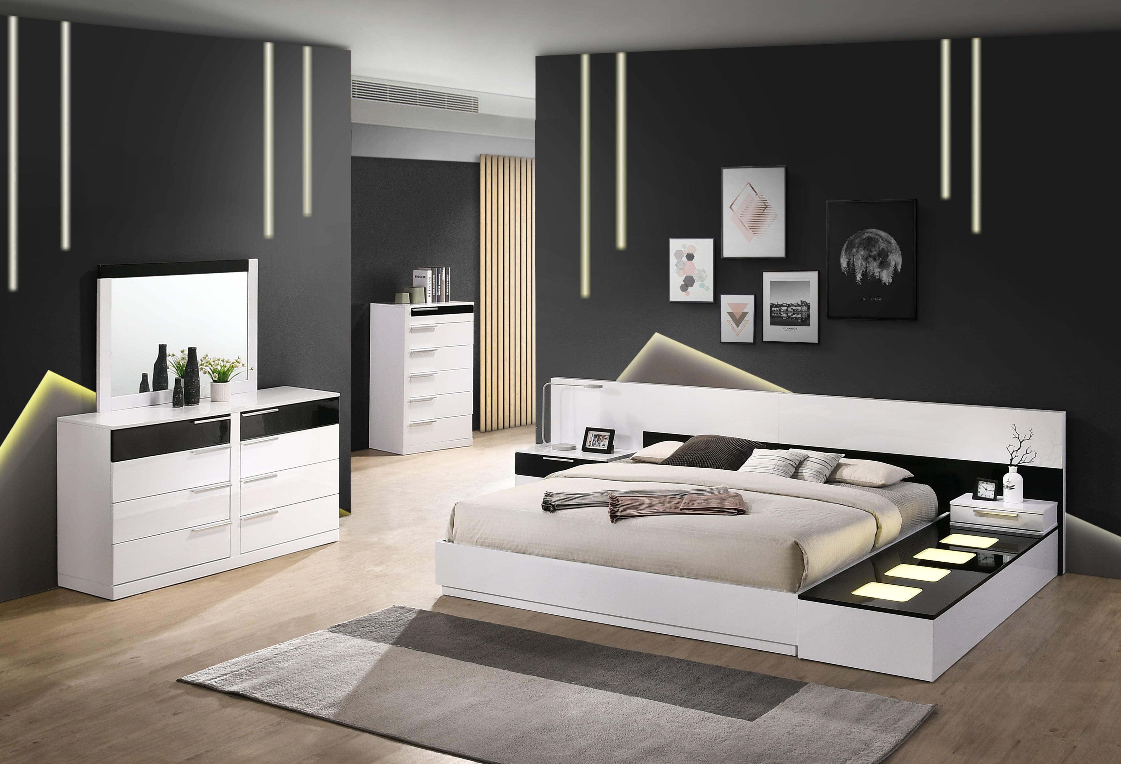 Best Master Furniture Bahamas 6 Pcs Cal King Bedroom Set Walmart Com Walmart Com