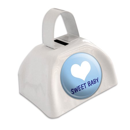 Blue Cow Bells (Sweet Baby Blue Shower White Cowbell Cow)