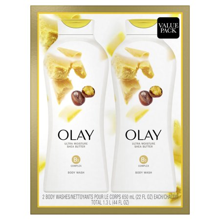 Olay Ultra Moisture Body Wash for Women, Shea Butter, 22 oz, 2 Pack