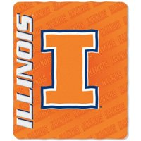 Illinois Illini NCAA Mark Design 50x60 Fleece Throw Blanket