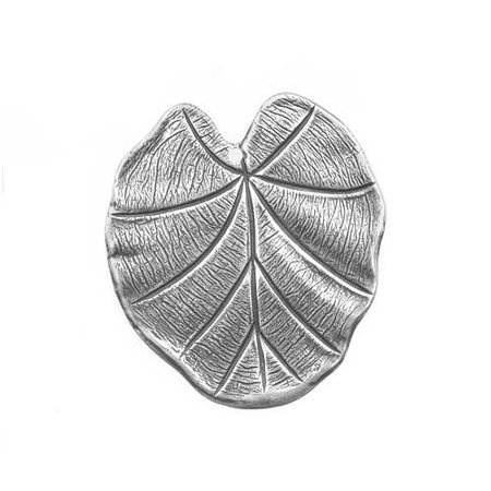 Antiqued Silver Plated Stamping Nouveau Leaf Pendant 31mm (Silver Plated Lead)