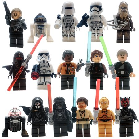 Star Wars Minifigures The Fearless Rebels VS Galactic Empire Caracters