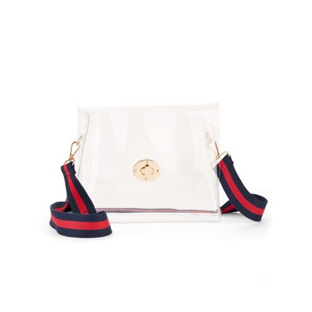 Eliza May Rose Clear Stadium - Wool Cross Body