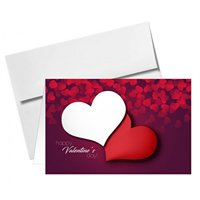 4.5 x 6 Valentine's Day Greeting Cards & A6 Envelopes - Pack of 25
