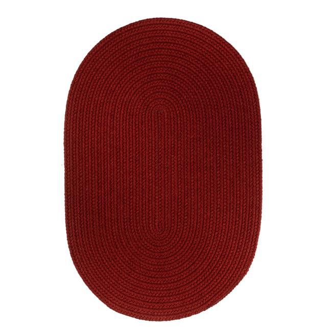 Rhody Rug S120R036X060 Solid 3x5 Wool Rug Scarlet - image 1 of 1
