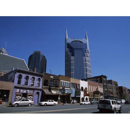 Buildings in a City, Honky Tonk Row, Nashville, Davidson County, Tennessee, USA Print Wall Art](Party City Nashville West)