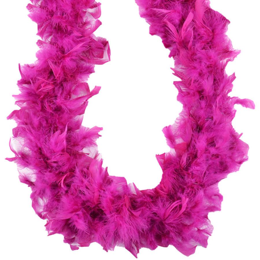 Turkey Feather Chandelle Boa, 2 yd, Raspberry Sorbet