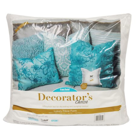"fairfield decorator's choice 24""x24"" pillow insert - walmart"