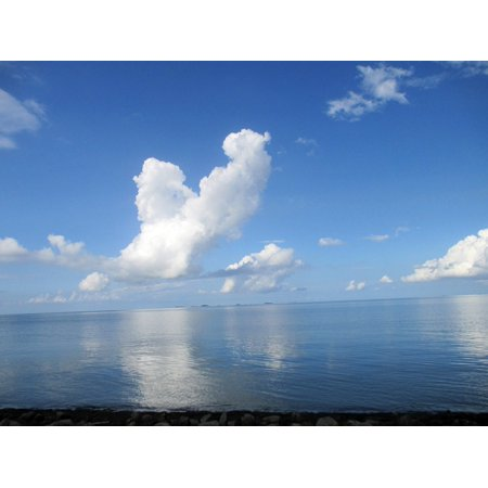Laminated Poster North Sea Clouds Island Poster Print 24 X 36