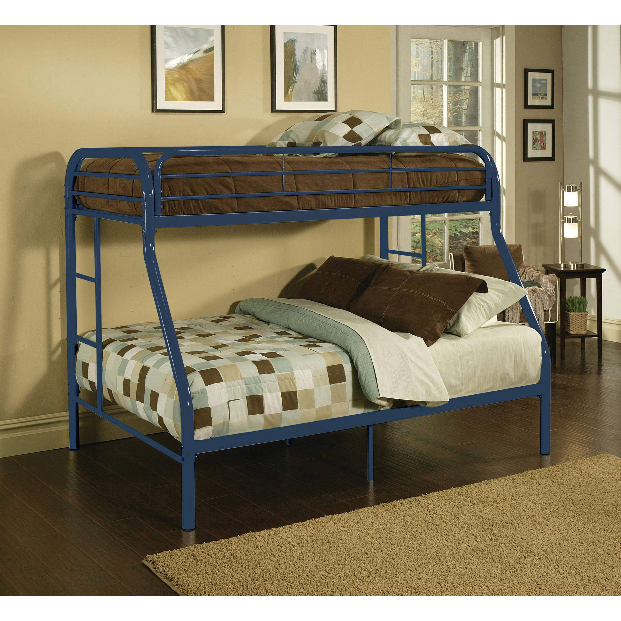 Eclipse Twin over Full Metal Bunk Bed, Multiple Colors