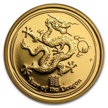 2012 Australia 1/4 oz Gold Lunar Dragon Proof (Series II) (Lunar Dragon)