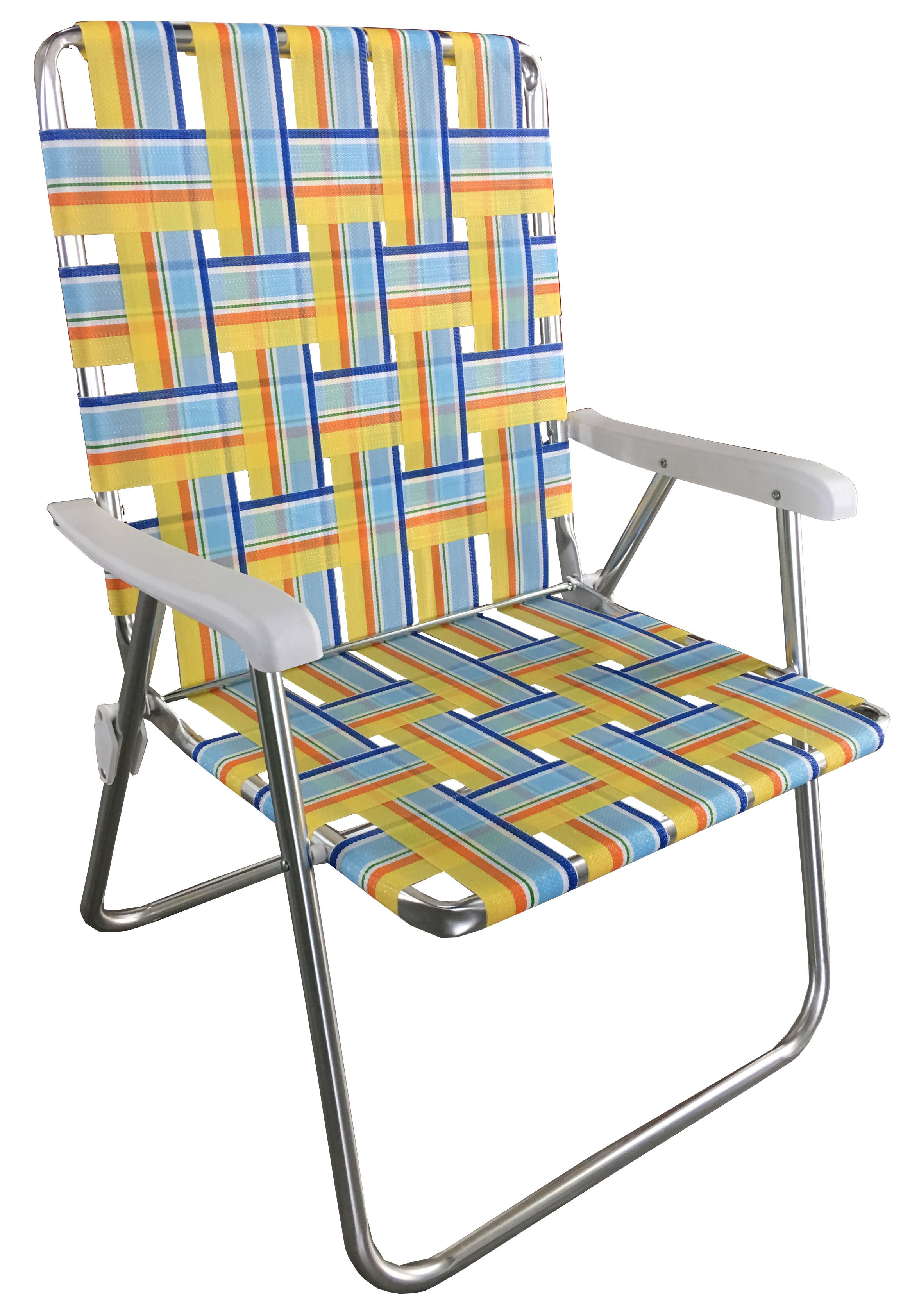 Mainstays Aluminum Folding Web Chair Yellow Walmart Com Walmart Com