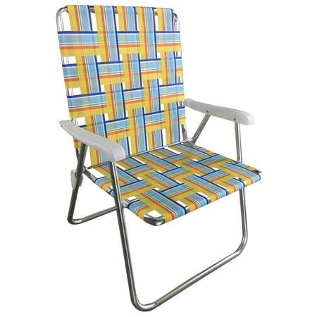 Folding Web Lawn Chairs.Mainstays Folding Aluminum Web Chair Walmart Com