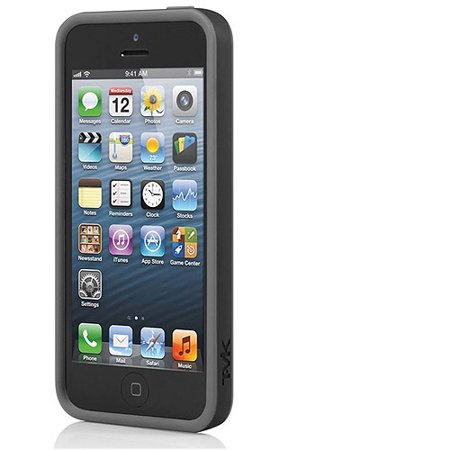 pretty nice 3e776 57227 TAVIK Outer Edge Bumper Case for Apple iPhone 5/5S, Black/Charcoal