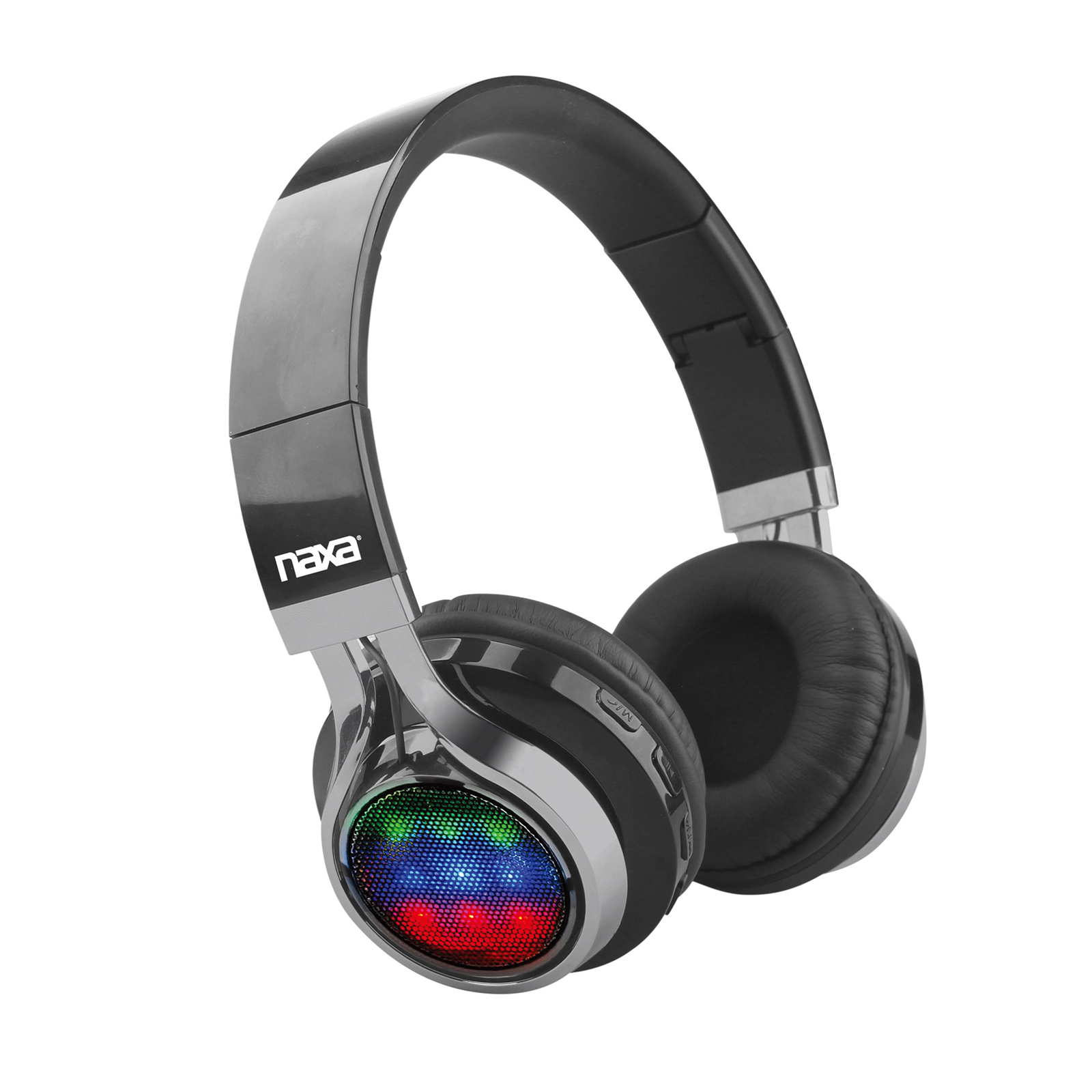 Naxa VIBE BT Foldable Headphones with Microphone & FM Radio