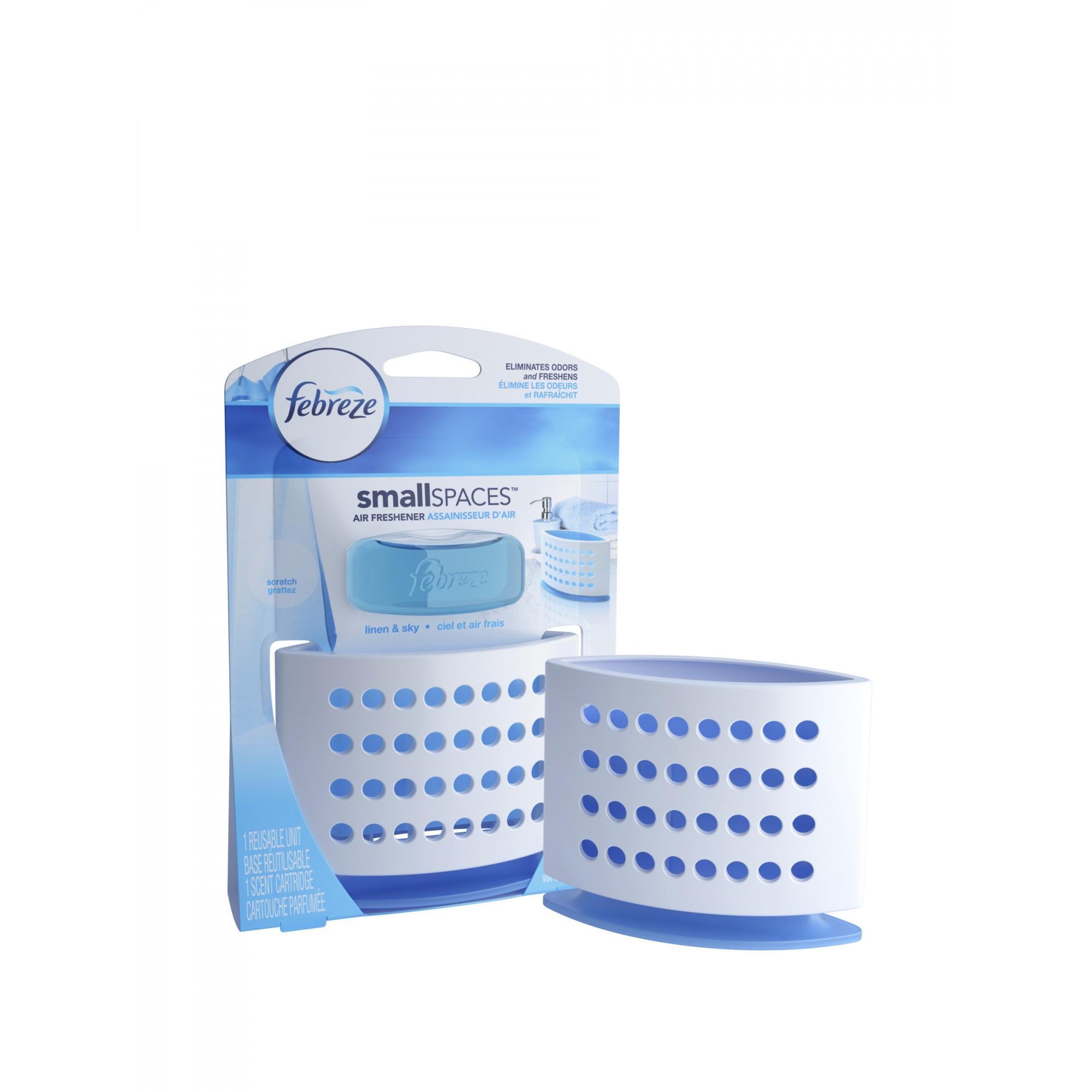 Febreze SmallSpaces Linen & Sky Starter Kit Air Freshener (1 Count ...