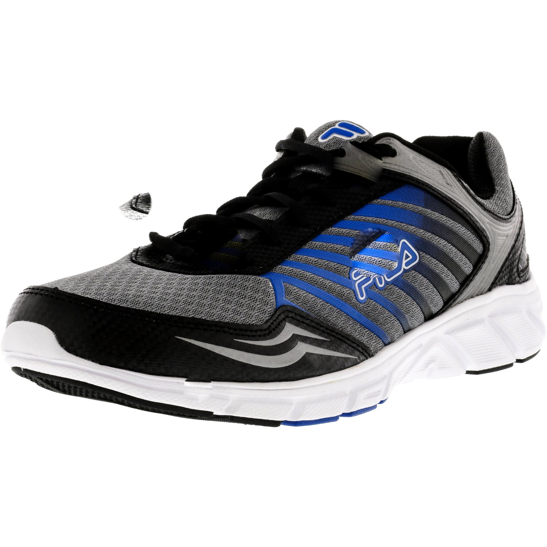 Fila Men's Gamble Dark Silver   Black Prince Blue Ankle-High Running Shoe 13M by Fila