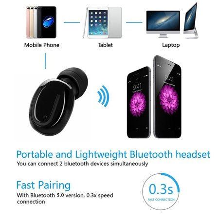 Stereo Music Headphone IPX5 Sweatproof Mini Wireless Headphone. 3D Sports Stereo Wireless Bluetooth Earbud with charging case. Upgrade bluetooth V5.0 In-Ear Headphone. - image 6 of 17
