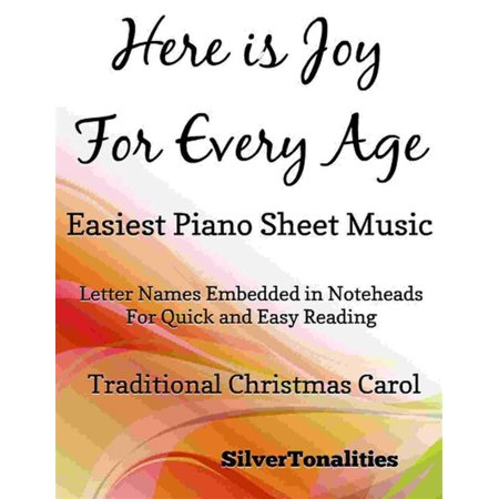 Here is Joy for Every Age Easiest Piano Sheet Music - eBook - This Is Halloween Piano Letters