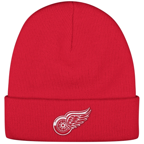 Detroit Red Wings Reebok Basic Cuffed Knit Hat - Red - OSFA