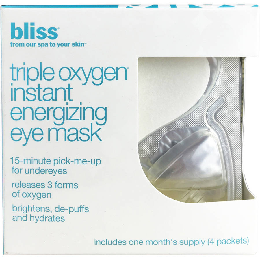 Bliss Triple Oxygen Instant Energizing Eye Mask, 4 count