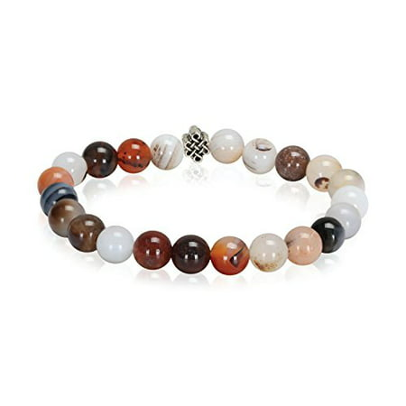 - BodyJ4You Bracelet Healing Natural Stone Agenta Beaded Stretch Fashion Jewelry