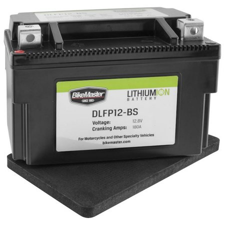 BikeMaster Lithium-Ion Battery 180 Cranking Amps 148L x 87W x 94H (DLFP12-BS)