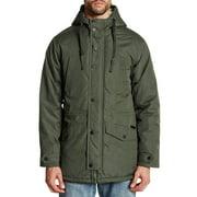 Ben Sherman Funnel Neck Faux Shearling Hooded Jacket Mens OMBS009H-DKOLV