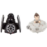 Hot Wheels Star Wars Battle Rollers Rey vs First Order TIE Fighter Set