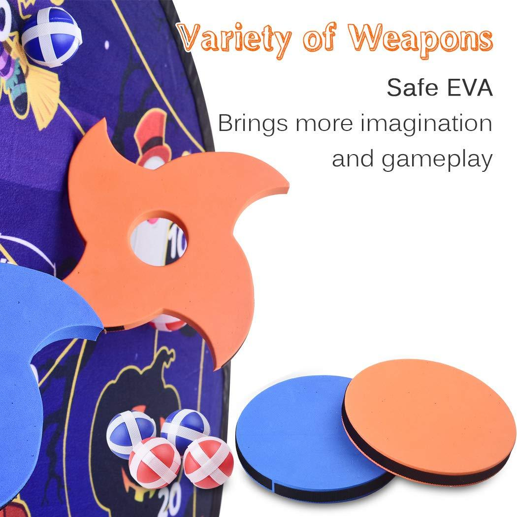 RaboSky Collapsible 30 Inch Diameter Halloween Themed Dart Game Board,  Halloween Party Favors Supplies for Kids Ages 30 30 30 30 30 30 30 Year Old,  Gift ...
