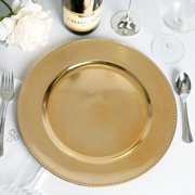 """Efavormart 24 pcs 13"""" Beaded Round Charger Plates Dinner Chargers for Tabletop Decor Holiday Wedding Catering Event Decoration"""